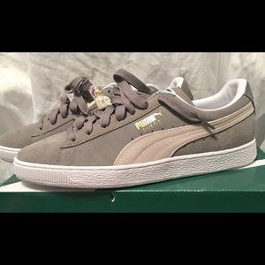 Men's Puma Suede Classic sz 12 Steeple Grey/White